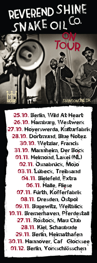 FALL TOUR 2012 flyer